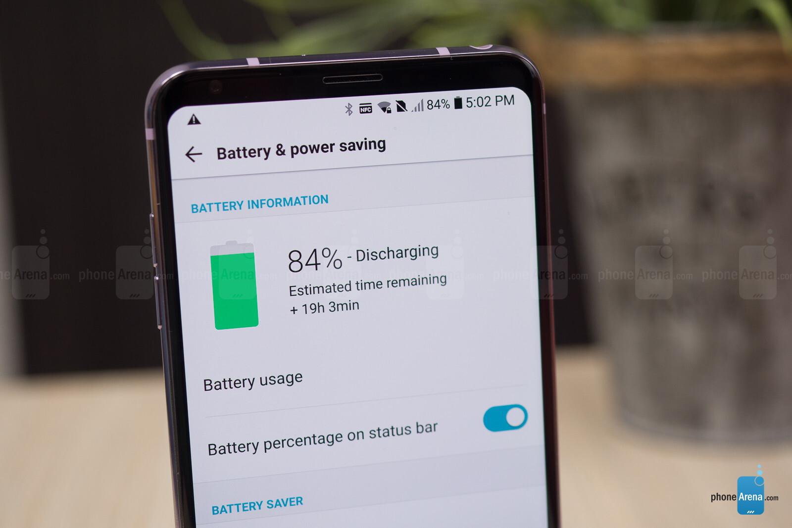 lg mobile long battery time