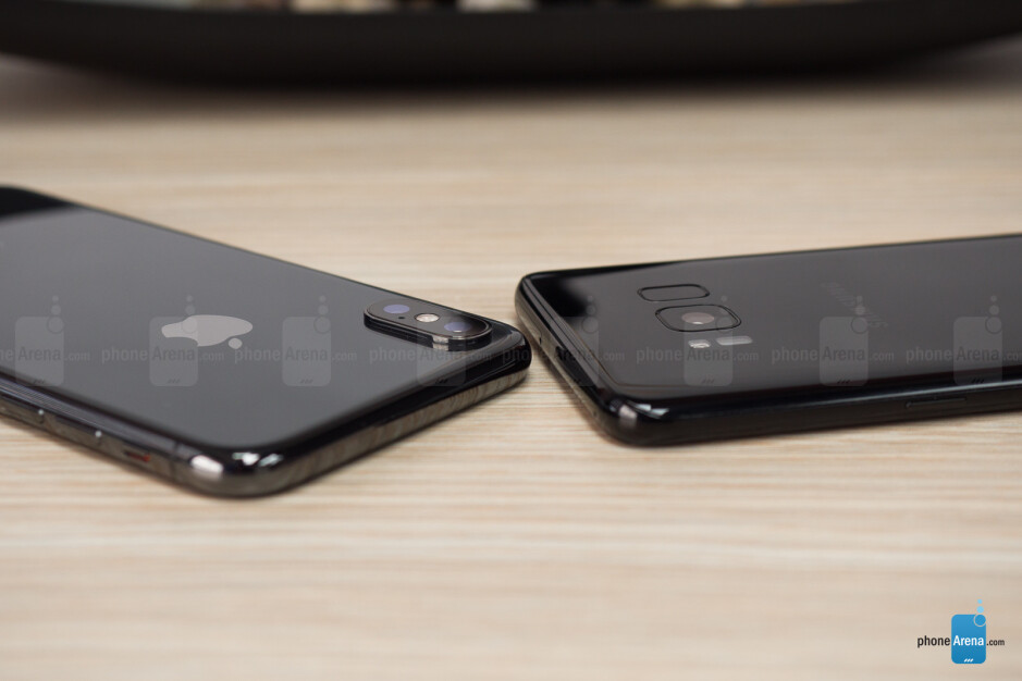 iPhone X next to Galaxy S8 - Apple iPhone X Review