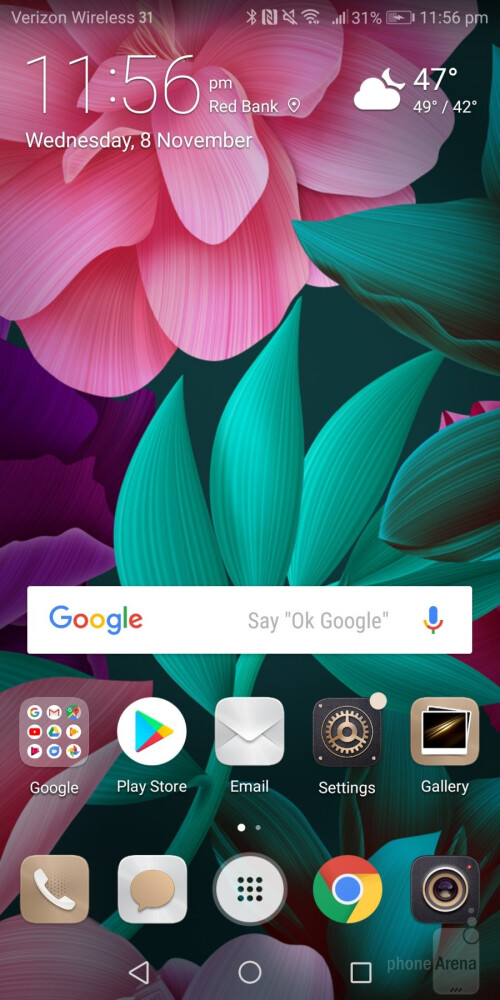 Huawei's Emotion UI 8.0 experience running on top of Android 8.0 Oreo
