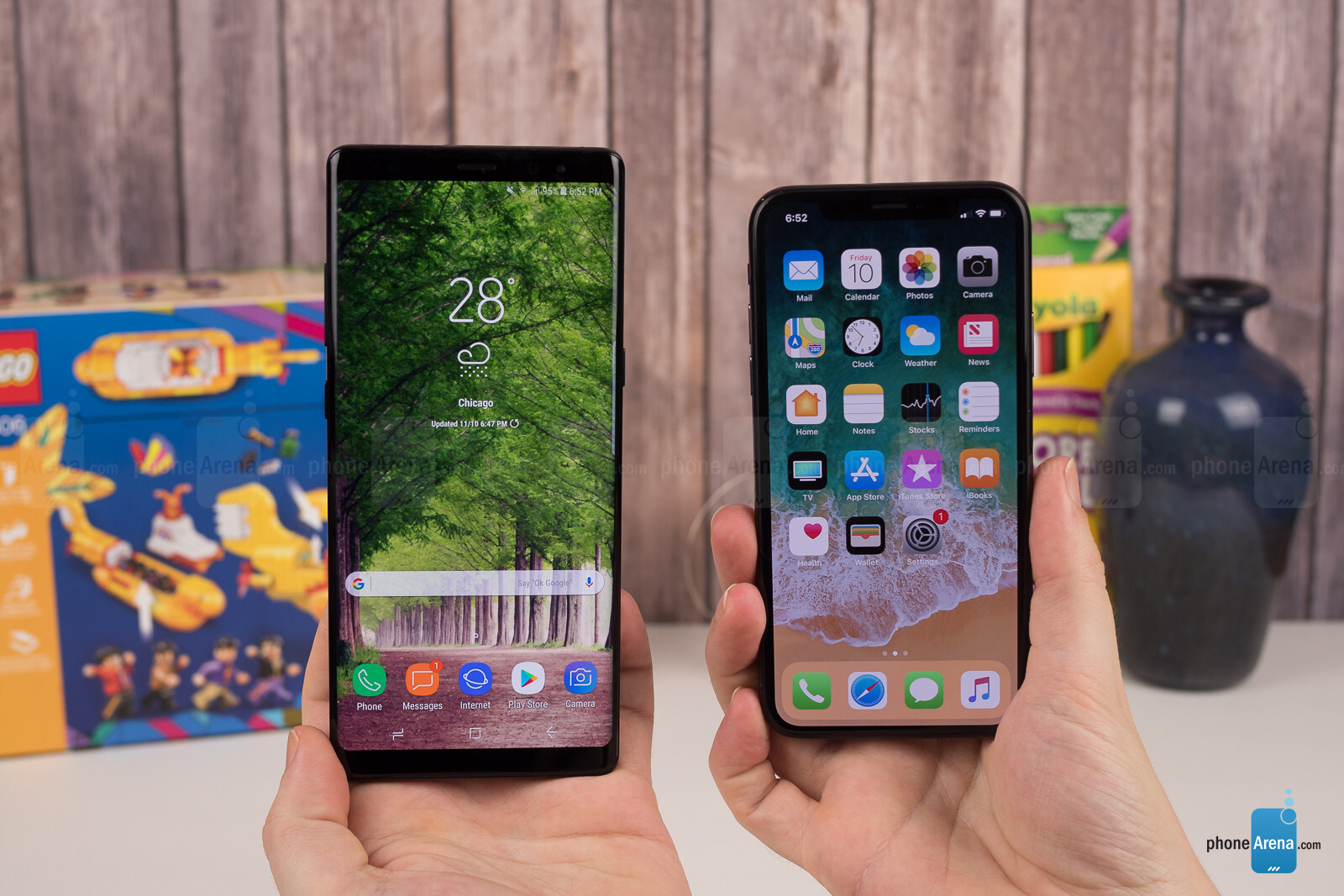 Apple iPhone X vs Samsung Galaxy Note 8 - PhoneArena