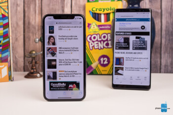 Apple iPhone X vs Samsung Galaxy Note 8