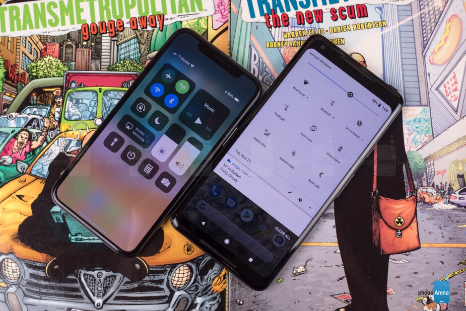 Apple iPhone X vs Google Pixel 2 XL