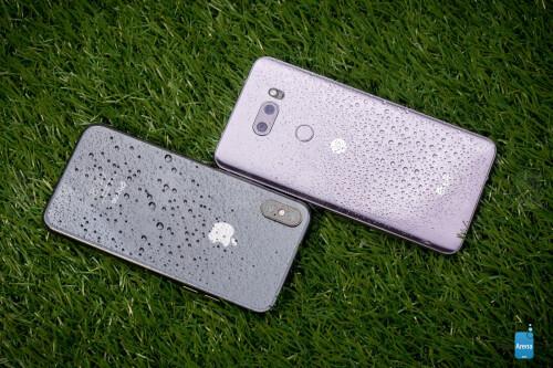 Apple iPhone X vs LG V30 design images