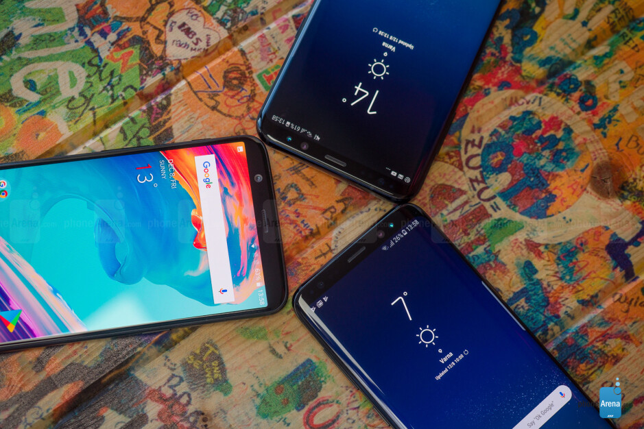 OnePlus 5T vs Samsung Galaxy S8 and Galaxy S8+