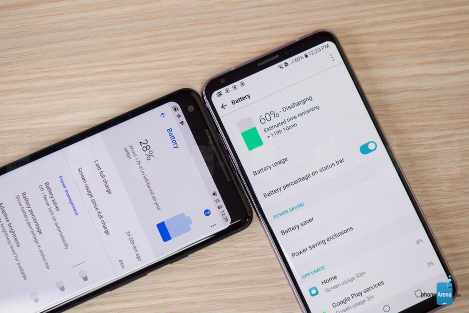 Google Pixel 2 XL vs LG V30