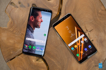 Samsung Galaxy A8 2018 (right), Galaxy S8 (left) - Samsung Galaxy A8 (2018) Review