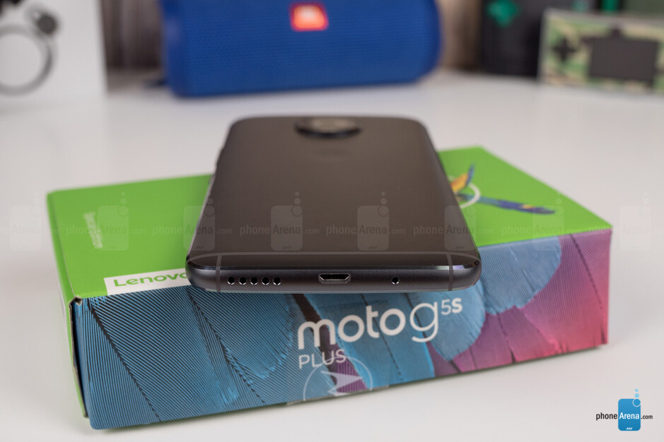 The micro USB port on the bottom - Moto G5S Plus Review