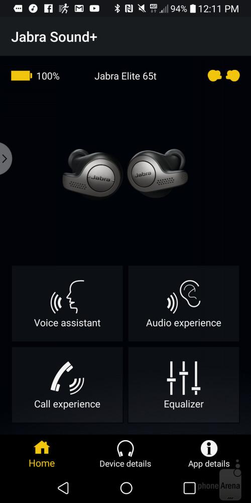 The Jabra Sound+ app