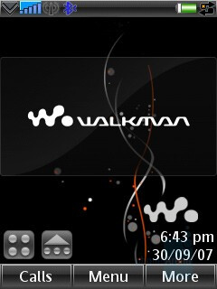 W960 Home screen - Sony Ericsson W960 Preview