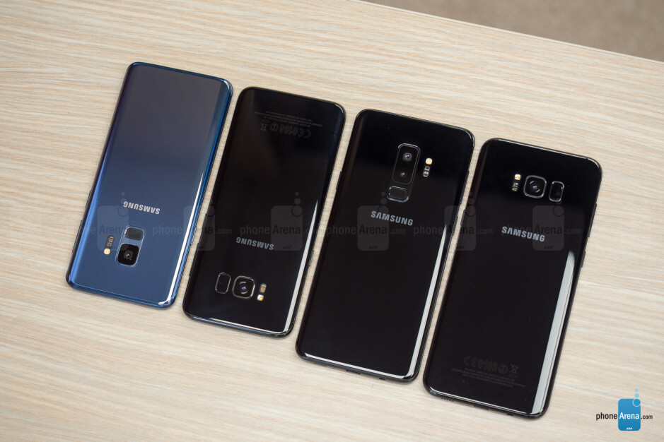 Left to right - the Samsung Galaxy S9, Galaxy S8, Galaxy S9+, and Galaxy S8+ - Samsung Galaxy S9 and S9+ vs Galaxy S8 and S8+