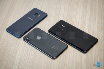Samsung Galaxy S9 and S9+ vs Apple iPhone X