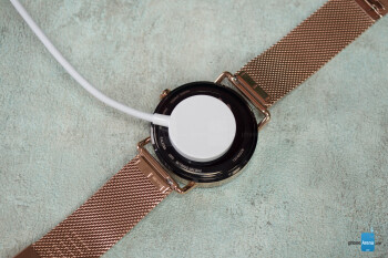 The Falster has a little magnetic charger - Skagen Falster Review
