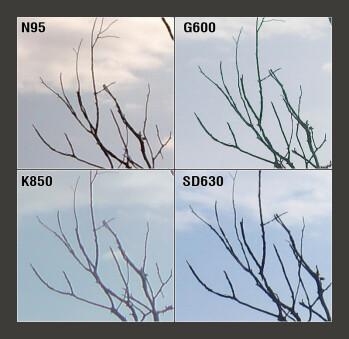 100% Crop - Nokia N95, Samsung G600 and Sony Ericsson K850 Camera Comparison