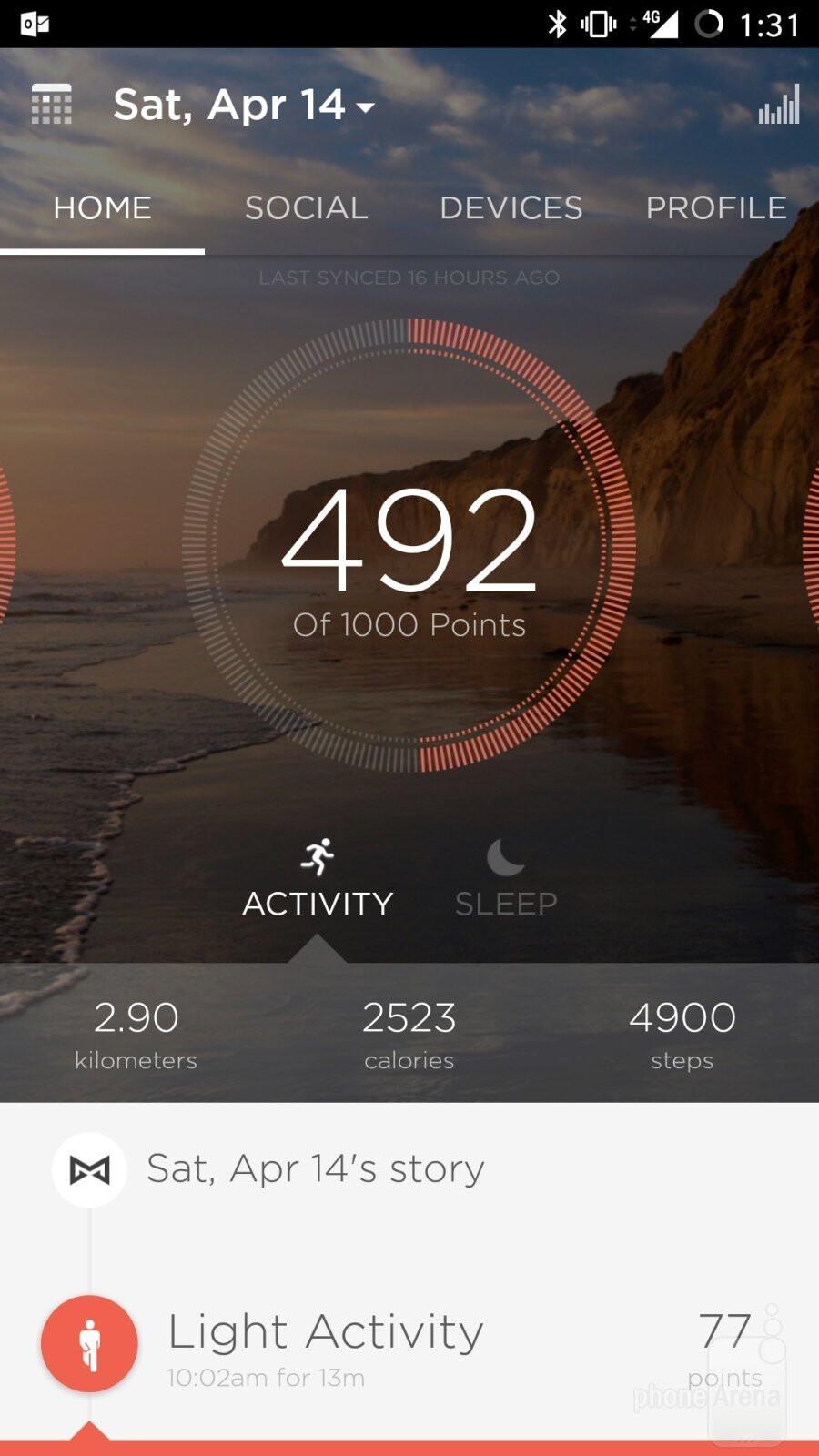 The Misfit activity phone app - Misfit Vapor smartwatch Review