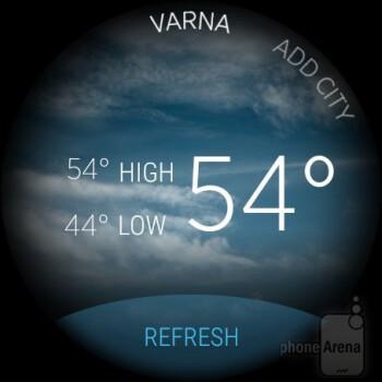 Weather - Misfit Vapor smartwatch Review