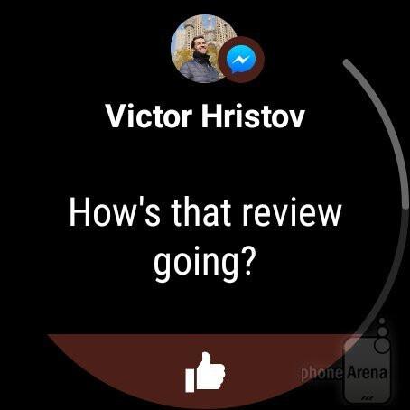 Notifications - Misfit Vapor smartwatch Review