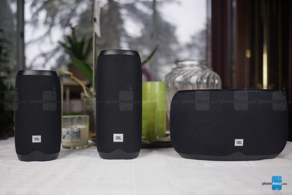 From left to right - JBL Link 10, JBL Link 20, JBL Link 300 - JBL Link 10, 20, 300 smart speakers Review