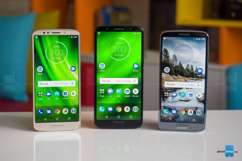 Left to right - G6 Play, G6 Plus, Moto G6