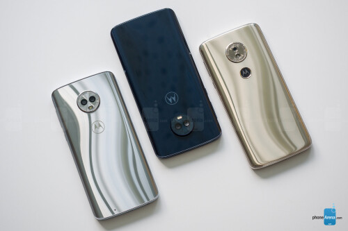 Left to right - Moto G6, G6 Plus, G6 Play