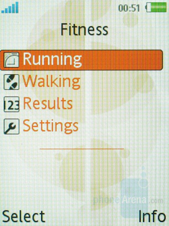 Fitness application - Sony Ericsson W580 Review