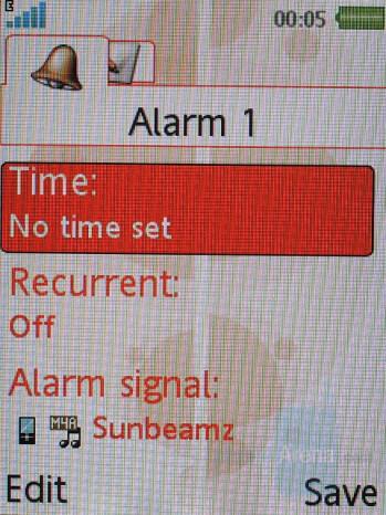 Alarm clock - Sony Ericsson W580 Review
