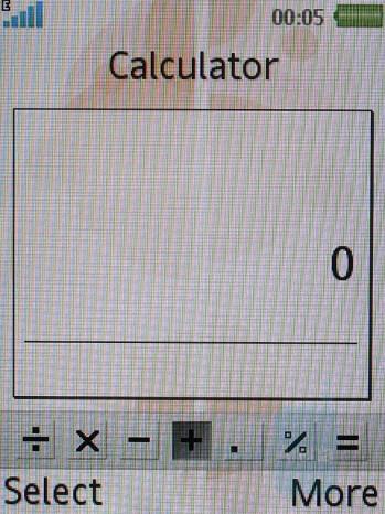 Calculator - Sony Ericsson W580 Review
