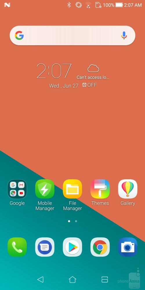 UI of the Asus Zenfone 5Q