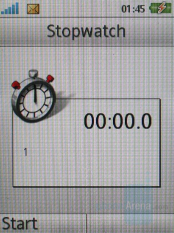 Stopwatch - Sony Ericsson S500 Review