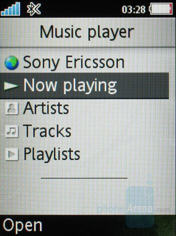 Music Player Interface - Sony Ericsson S500 Review