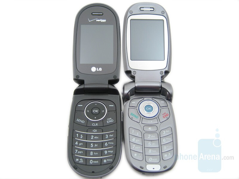 LG VX8350 (left and up) next to LG VX8300 (right and bottom) - LG VX8350 Review