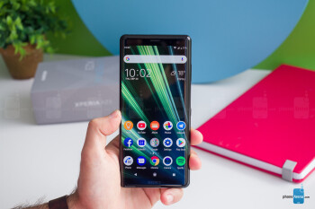 The XZ3 feels substantial in hand - The XZ3 is IP68 water protected - Sony Xperia XZ3 Review