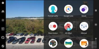 Camera interface - Sony Xperia XZ3 Review