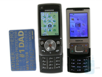 Samsung SGH-G600(left and bottom), Nokia 6500(right and above) - Samsung SGH-G600 Review