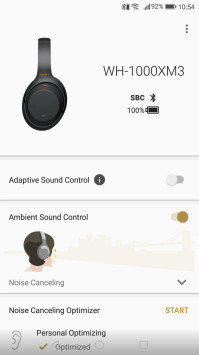 The Headphones Connect app by Sony works for Android and iOS