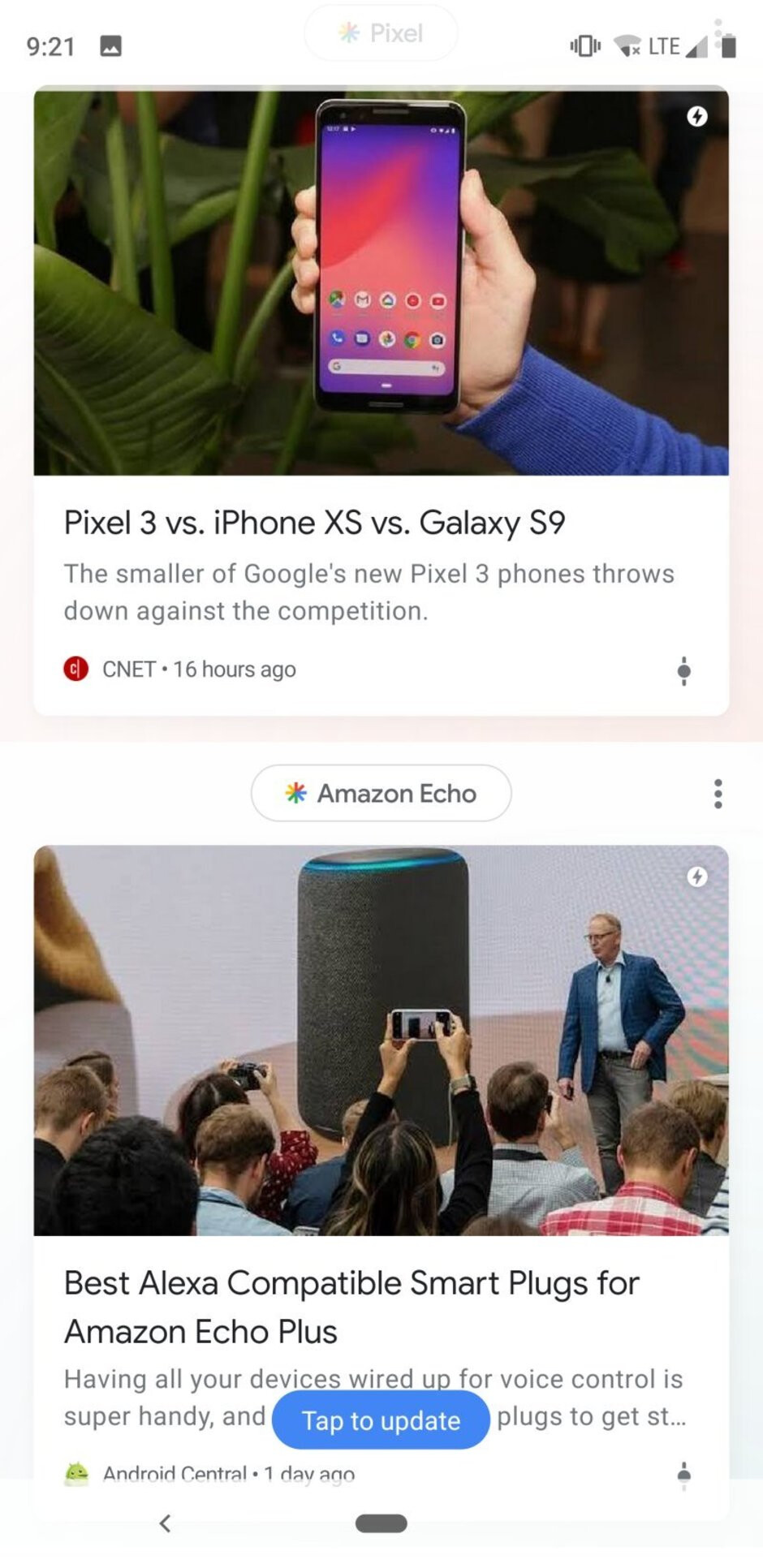 Interface of the Pixel 3 - Samsung Galaxy S10 vs Google Pixel 3