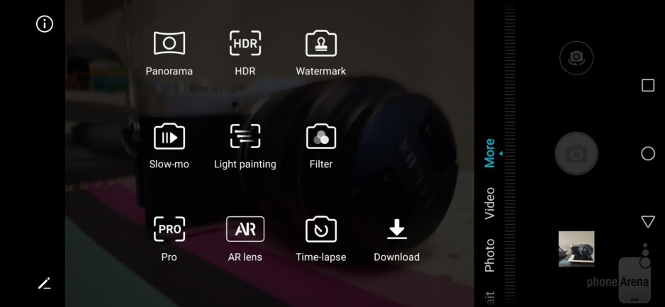 Camera interface - Honor 8X Review
