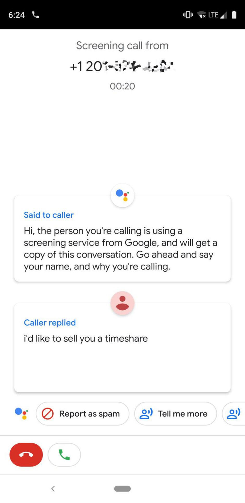 Google Pixel 3 (Call Screening shown in image #4) - Google Pixel 3 vs Apple iPhone XS