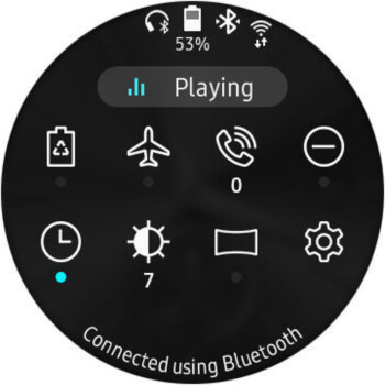 Quick toggles - Samsung Galaxy Watch Review
