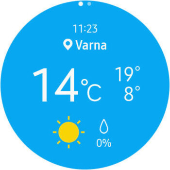 Weather app - Samsung Galaxy Watch Review