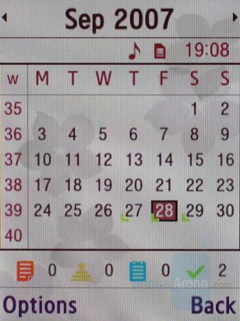 Calendar - Samsung SGH-G600 Review