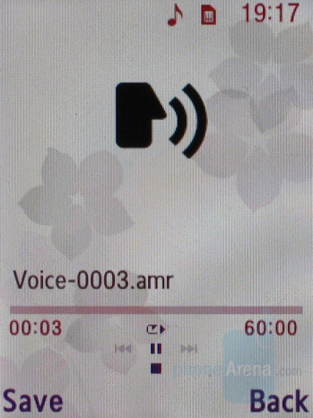 Voice recorder - Samsung SGH-G600 Review