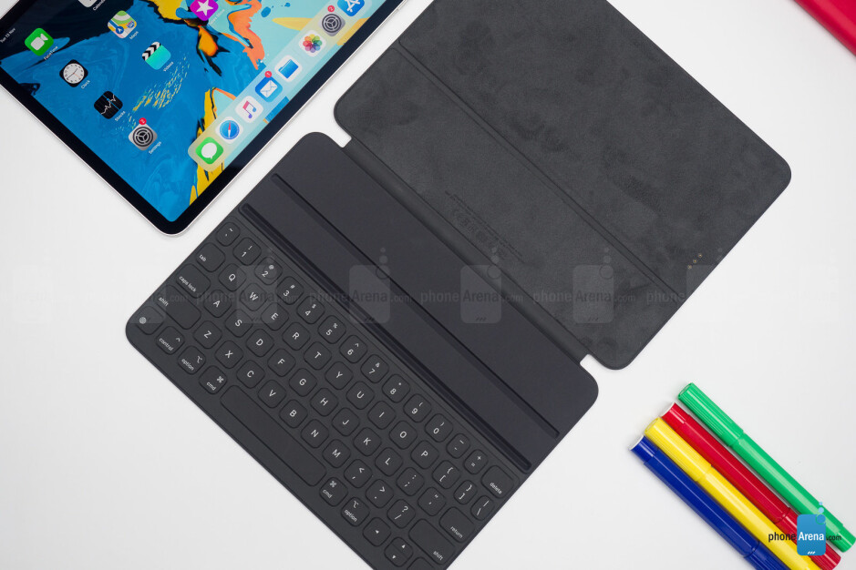 The three-dot connector on the back of the iPad Pro (2018) is used to connect to certain accessories like the new Smart Folio Keyboard - Apple iPad Pro (2018) Review