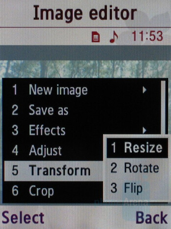 Image Editor - Samsung SGH-G600 Review