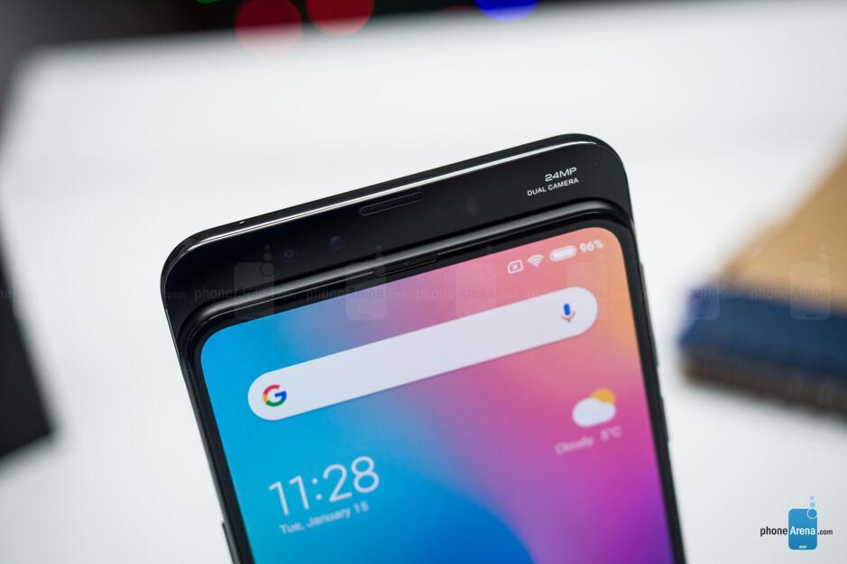 The sliding mechanism selfie camera - Xiaomi Mi Mix 3 Review