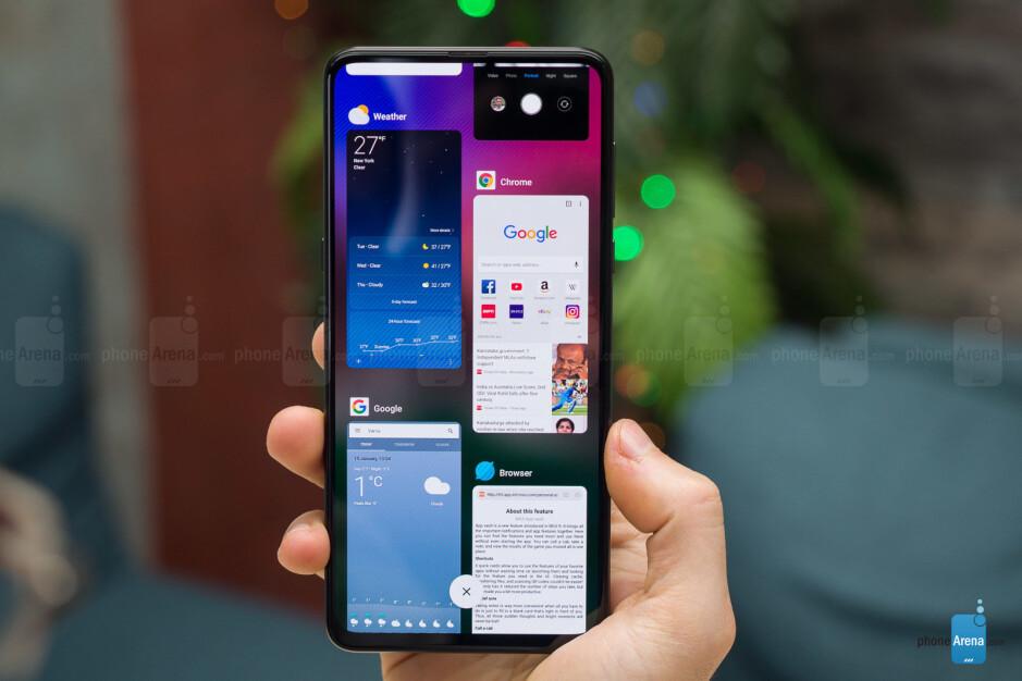 Multitasking in MIUI 10 - Xiaomi Mi Mix 3 Review