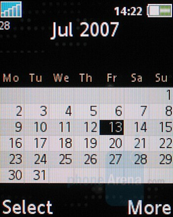 Calendar - Sony Ericsson K530 Review