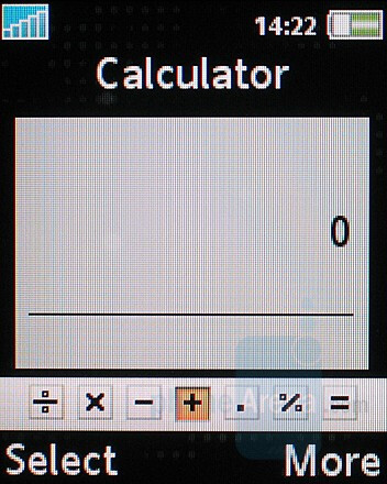 Calculator - Sony Ericsson K530 Review