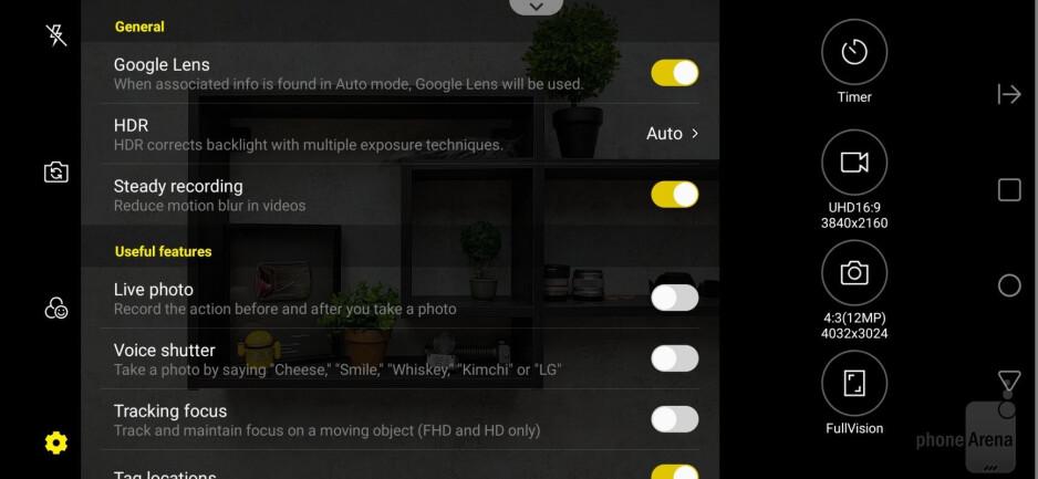 Camera interface - LG G8 ThinQ Review