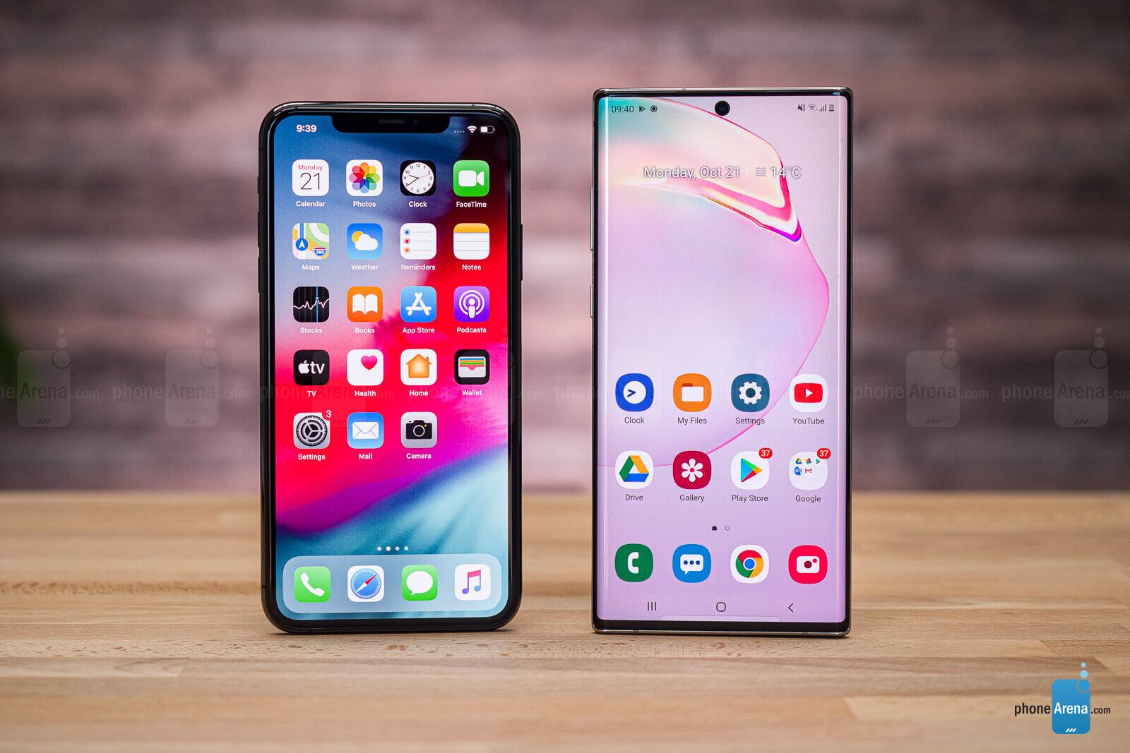 battery life iphone 11 vs samsung s10