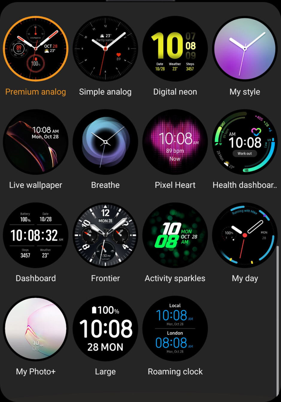 Active 2 comes with 15 pre-loaded watchfaces - Samsung Galaxy Watch Active 2 Review